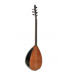 Turkish Saz Staved-Body Black Thin Cut Mother of Pear