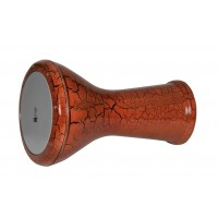 Egyptian Darbuka Cracked Paint Brown