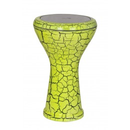 Egyptian Darbuka Cracked Paint Green