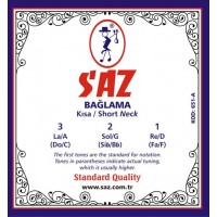 Saz String Standart Short Neck 0.18