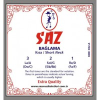 Saz String Extra Short Neck 0.18