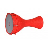 Turkish Aluminium Darbuka Crocodile Orange 23.5cm